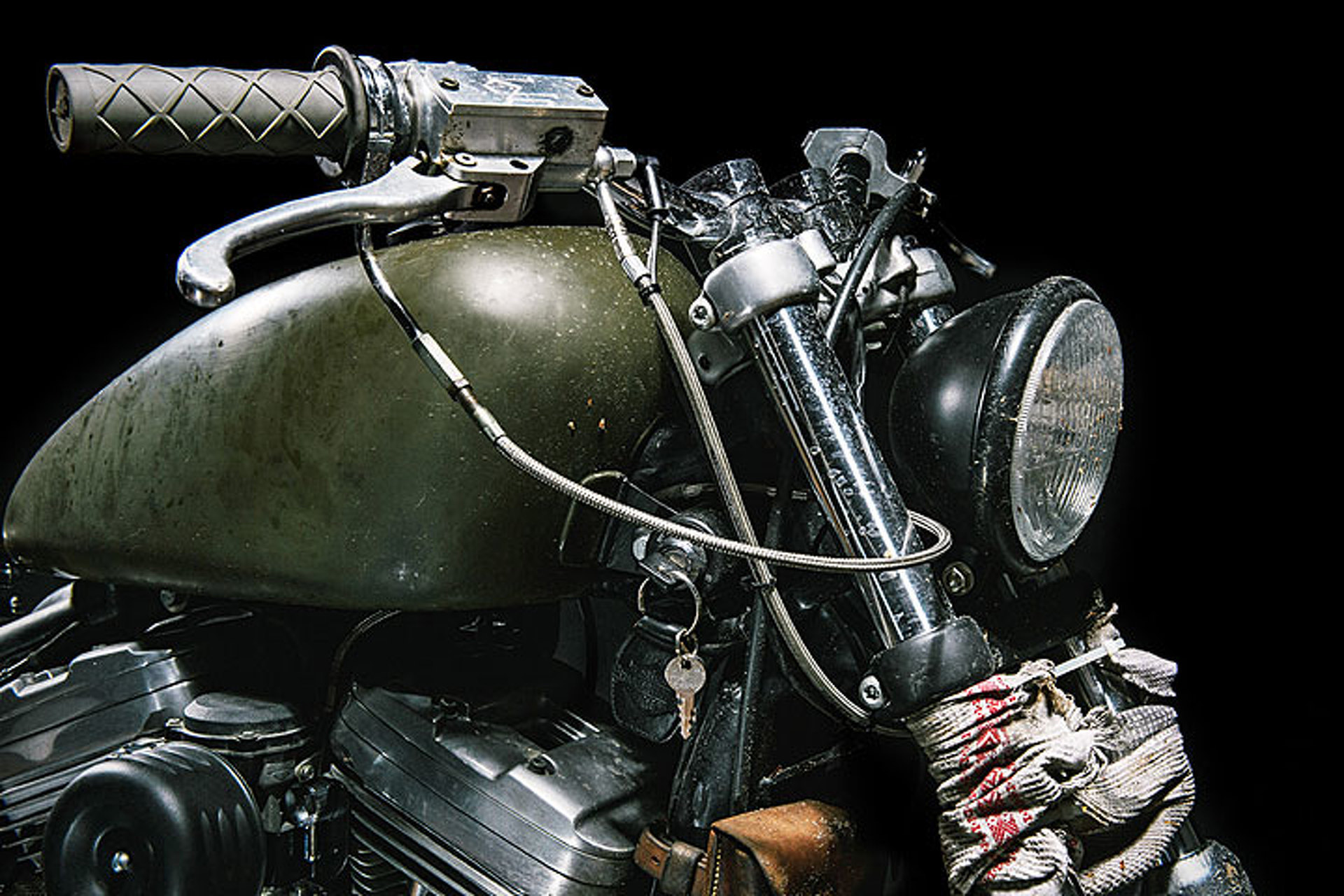 """5edc5d24c3435 This Harley Davidson """"Witch"""" is Dirty and Distressed"""