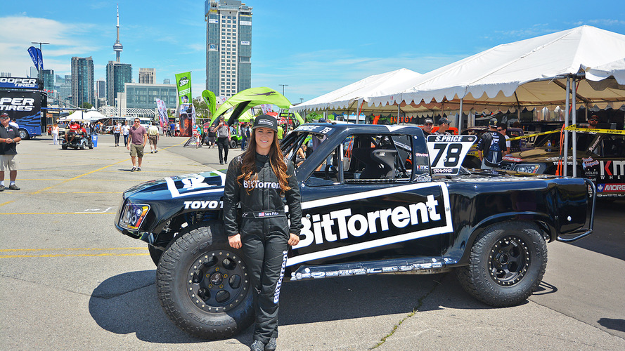BitTorrent-sponsored female racer rocks Stadium Super Trucks in Toronto