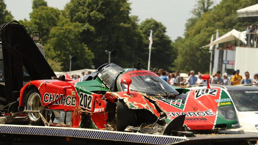 Mazda 767B: accidente en Goodwood