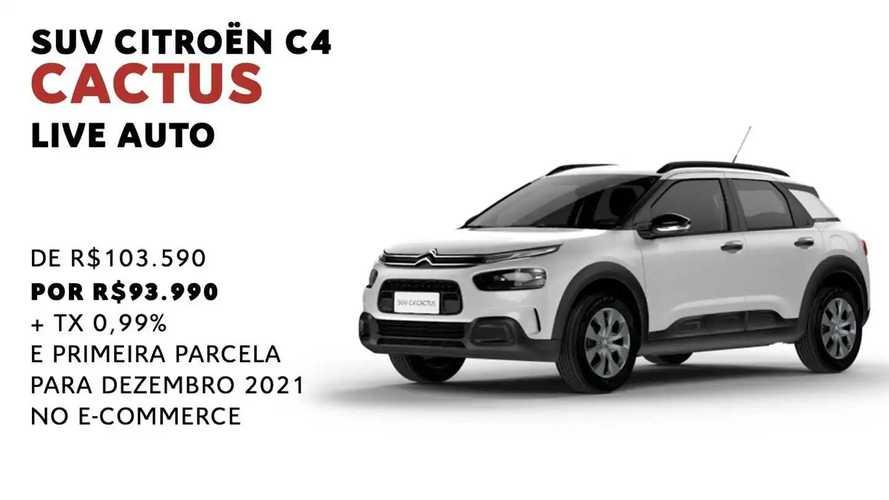 Citroën C4 Cactus é oferecido com até R$ 14.000 de desconto