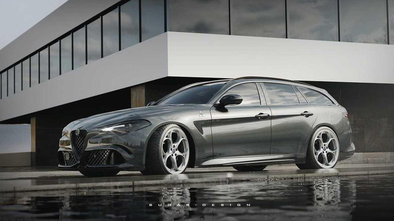 So scharf könnte die Giulia von Alfa Romeo als Kombi aussehen
