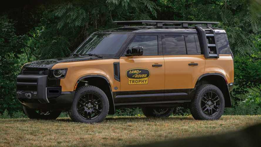 La nuova Land Rover Defender si veste coi colori del Camel Trophy