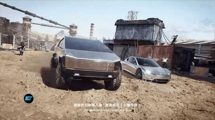 Tesla Cybertruck & next-gen roadster debut in video game