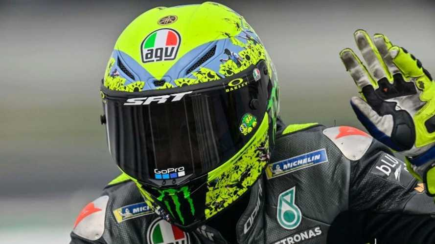 Take A Closer Look At Rossi's Farewell Helmet Livery
