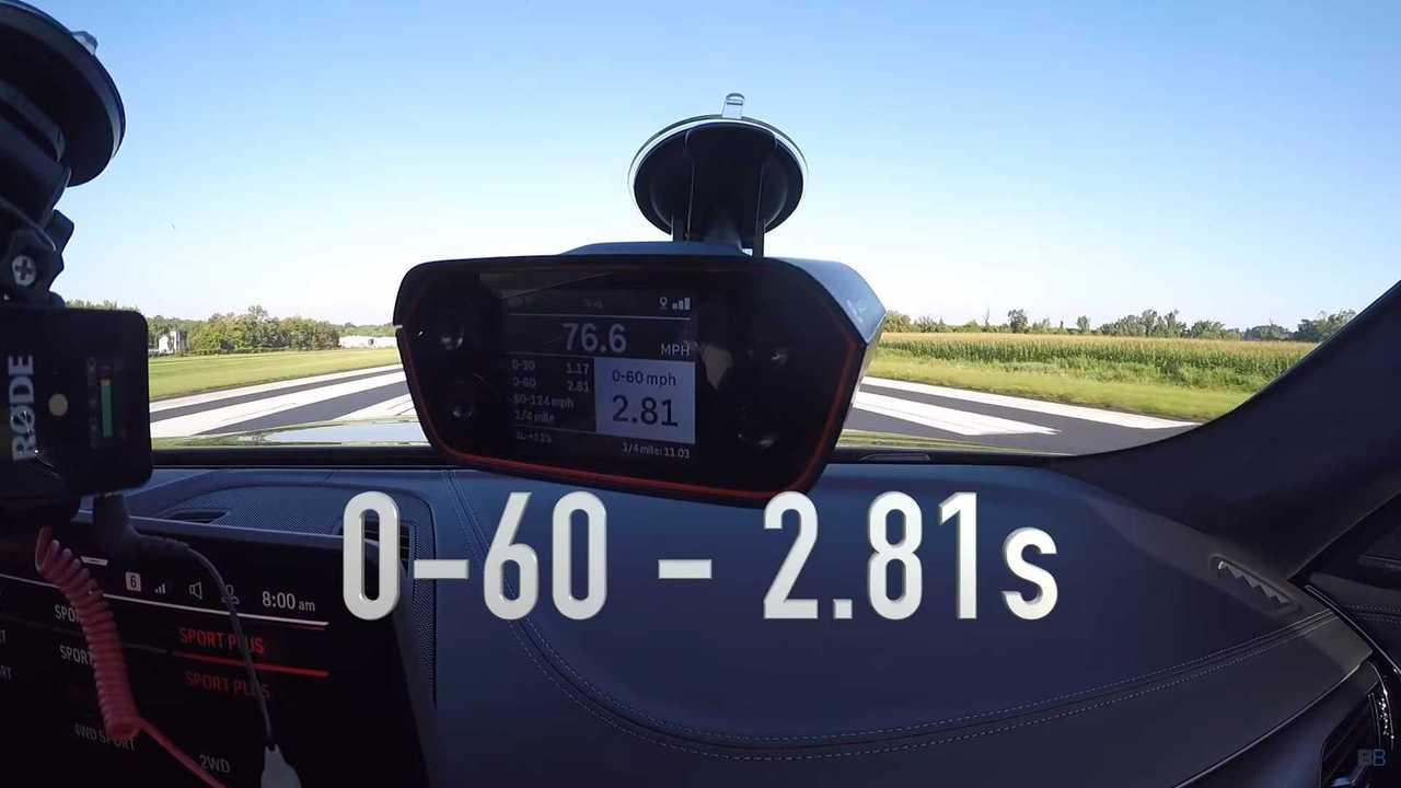 BMW M5 CS acceleration test