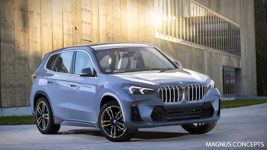 2022 BMW X1 rendered and spied showing more details