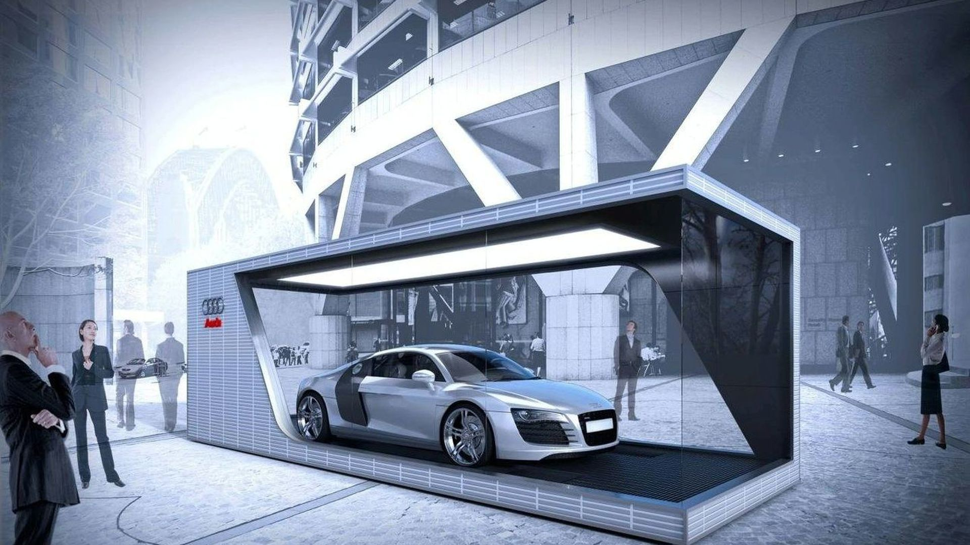 Audi One Car Showroom Is Launched In Sydney - Car showroom
