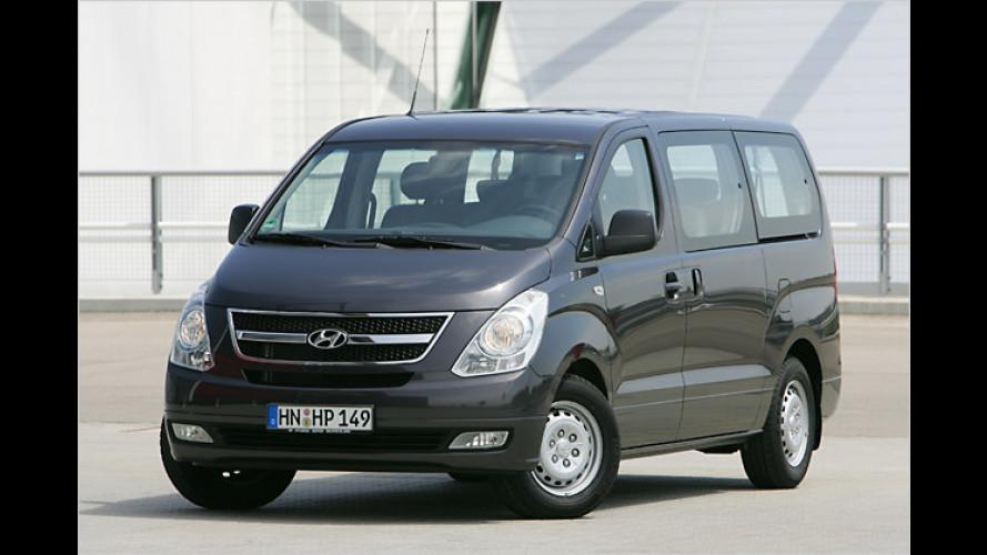 Der Hyundai H-1 Travel bietet viel Platz für Kind und Kegel