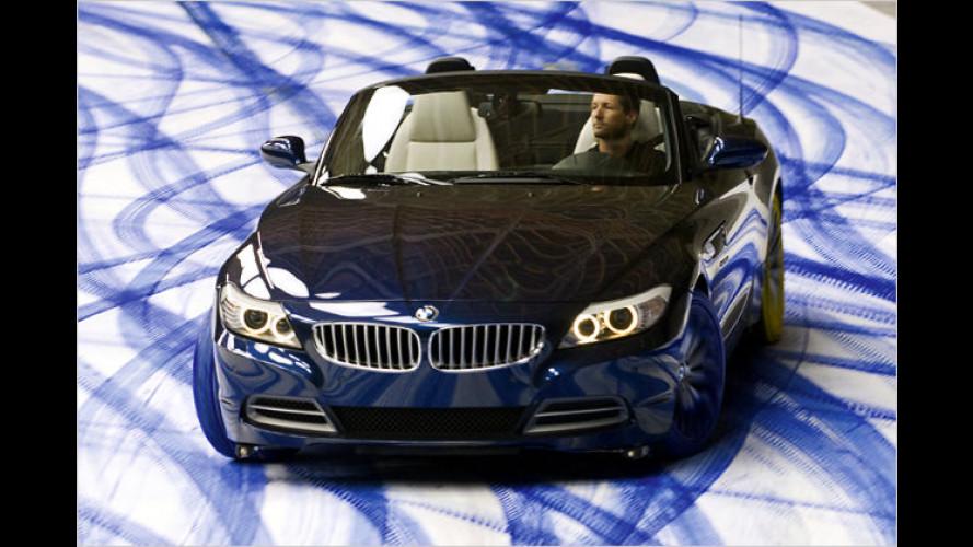 Der Roadster als Pinsel: Reifen-Prüfung für den BMW Z4