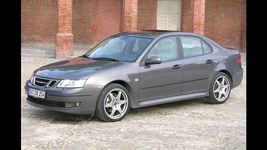 Saab 9-3 Limousine 1.9 TiD: Dank Hirsch zum Renntier