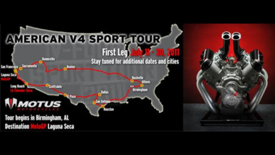 Motus Motorcycle MST-01: in tour negli USA