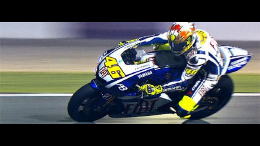 MotoGP 2010, Qatar, Test Night/1: subito Rossi