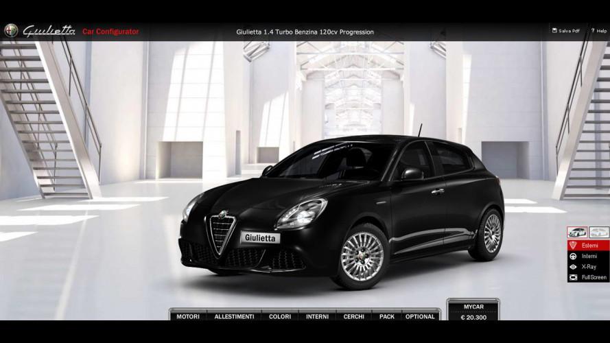 Alfa Romeo Giulietta: è on-line il Car-configurator