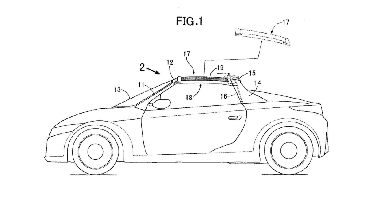 Honda targa tavan patenti