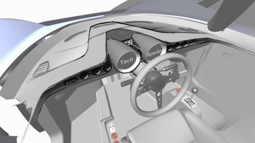 SCG New Teaser Shows Gated Shifter And Central Steering Wheel