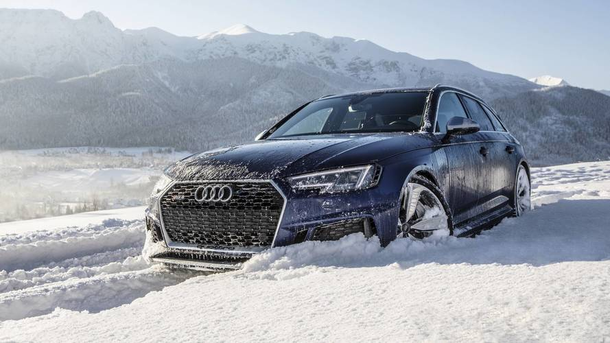Turns Out The Audi RS4 Avant Doubles As An Efficient Snow Blower