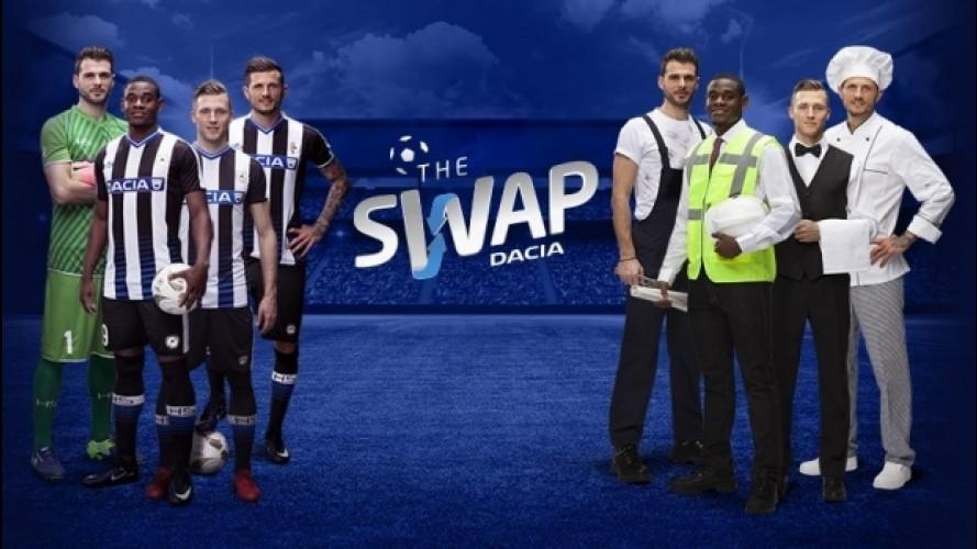 """""""Dacia The Swap"""", i calciatori lavorano al posto tuo"""