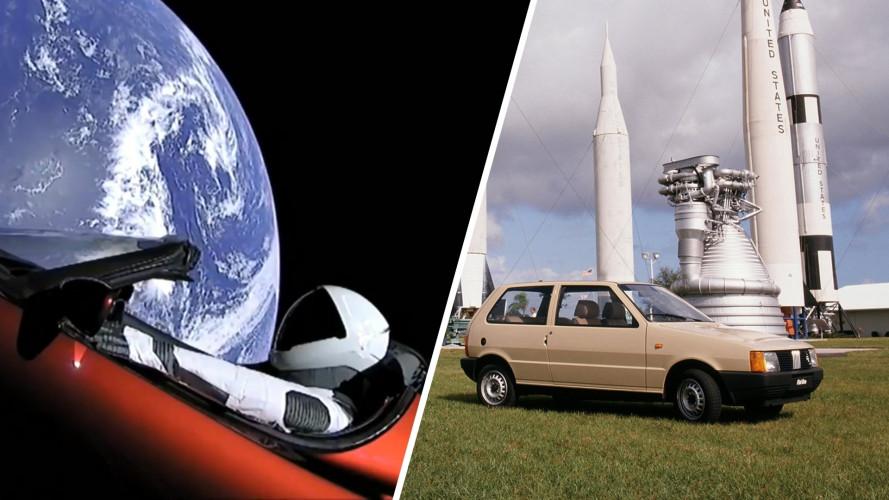 Ironia della storia, dalla Fiat Uno a Cape Canaveral all'elettrica Tesla nello spazio