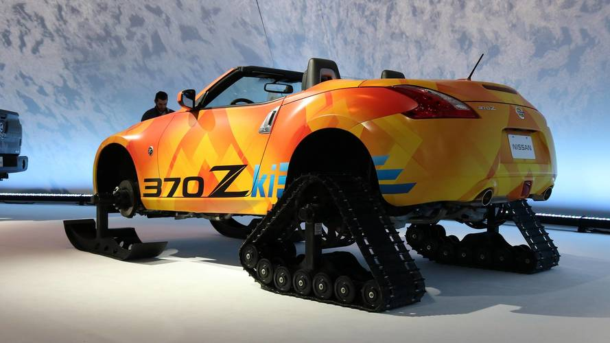 Nissan 370Zki Is The Bonkers Two-Seat Snowmobile Of Your Dreams