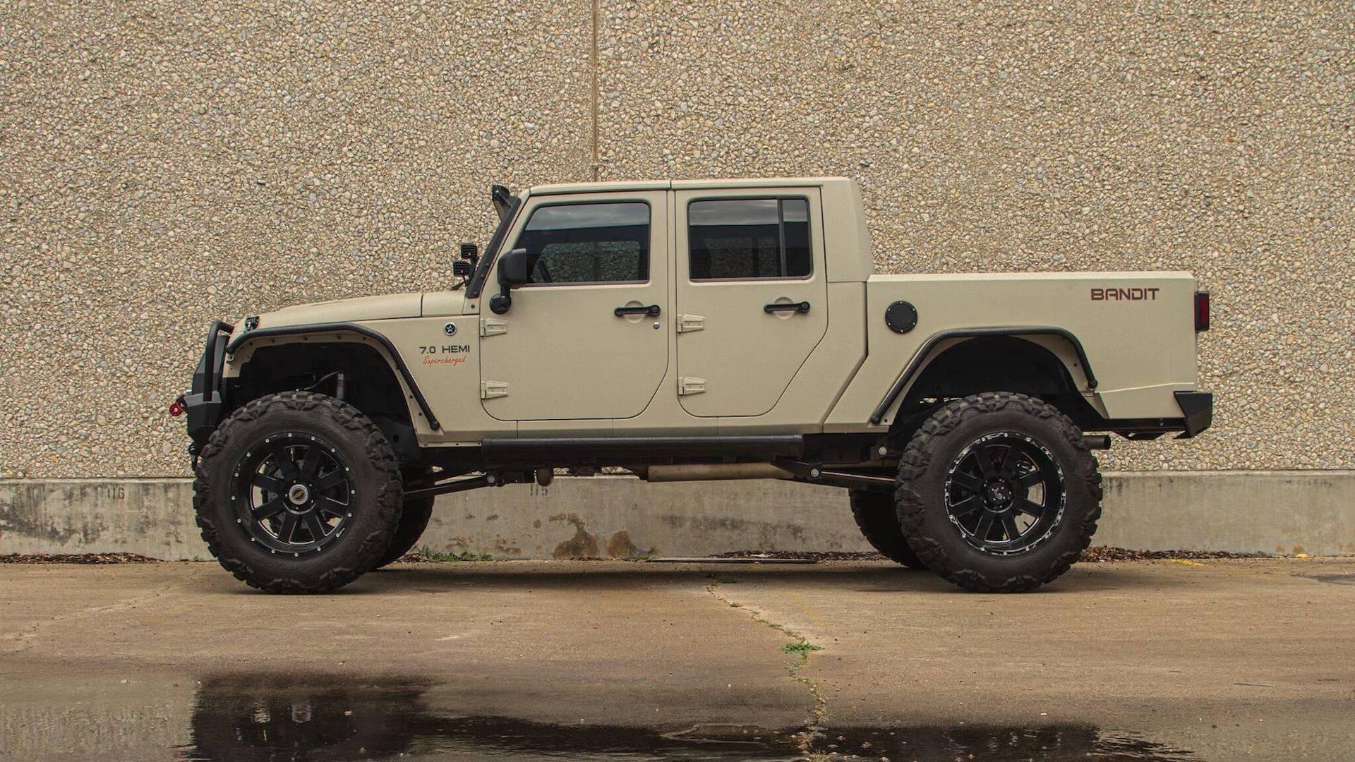 Jeep Wrangler Pickup >> 700 Horsepower Jeep Wrangler Bandit Pickup