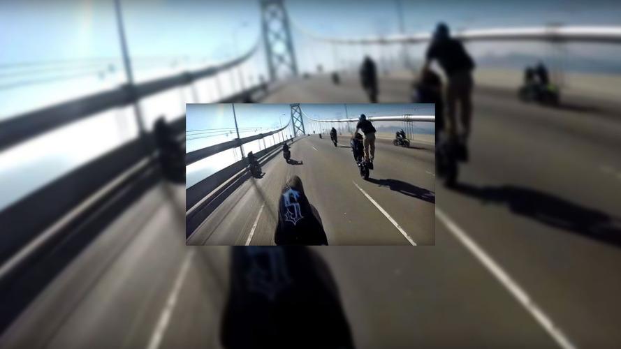 Motorcycle hooligans attack Golden Gate bridge