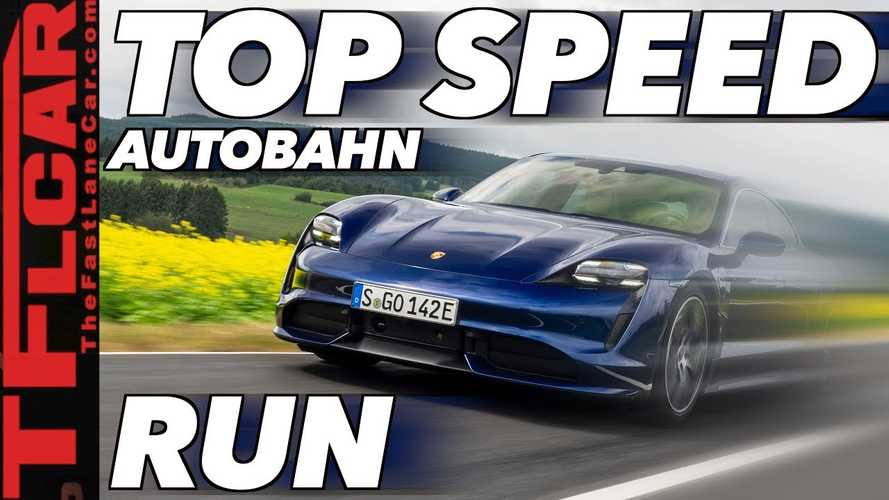 2020 Porsche Taycan hits the Autobahn for top speed test