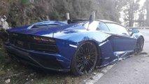 Lamborghini Aventador, accidente en Asturias
