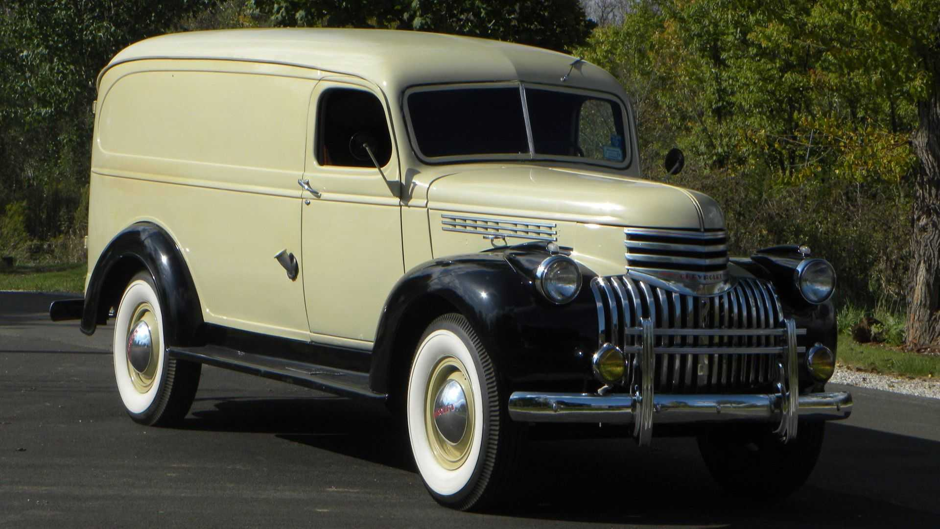 """[""""Drive A Tasteful 1941 Chevy 1 Ton Panel Truck""""]"""