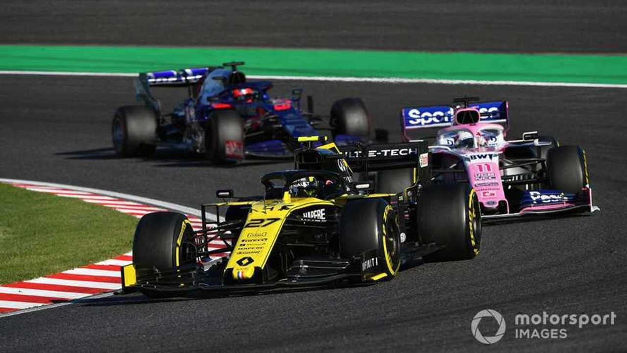 Nico Hulkenberg leads Sergio Perez at Japanese GP 2019