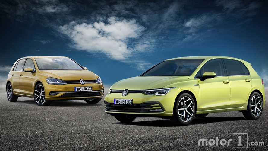Volkswagen Golf 8: See the changes side by side