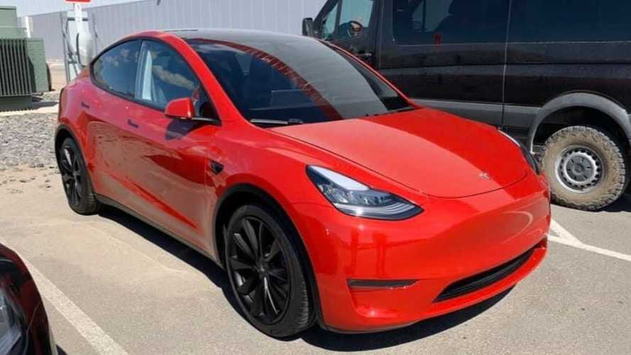 Tesla Model Y looks hot in red: More real-world sightings