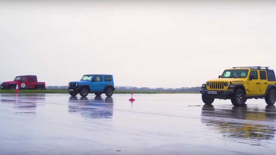Jimny Drag Races Wrangler And Bowler Bulldog With An Off-Road Twist