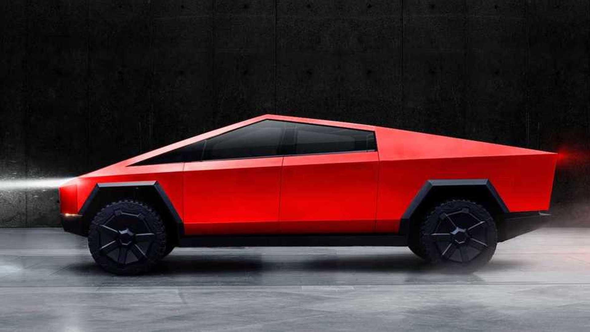 See the Tesla Cybertruck in flashy hues