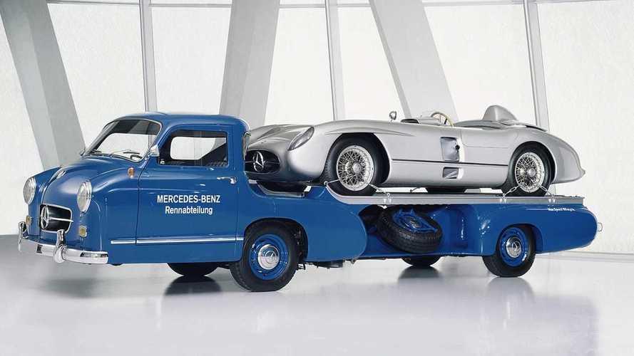 Camions pour transporter des voitures de course