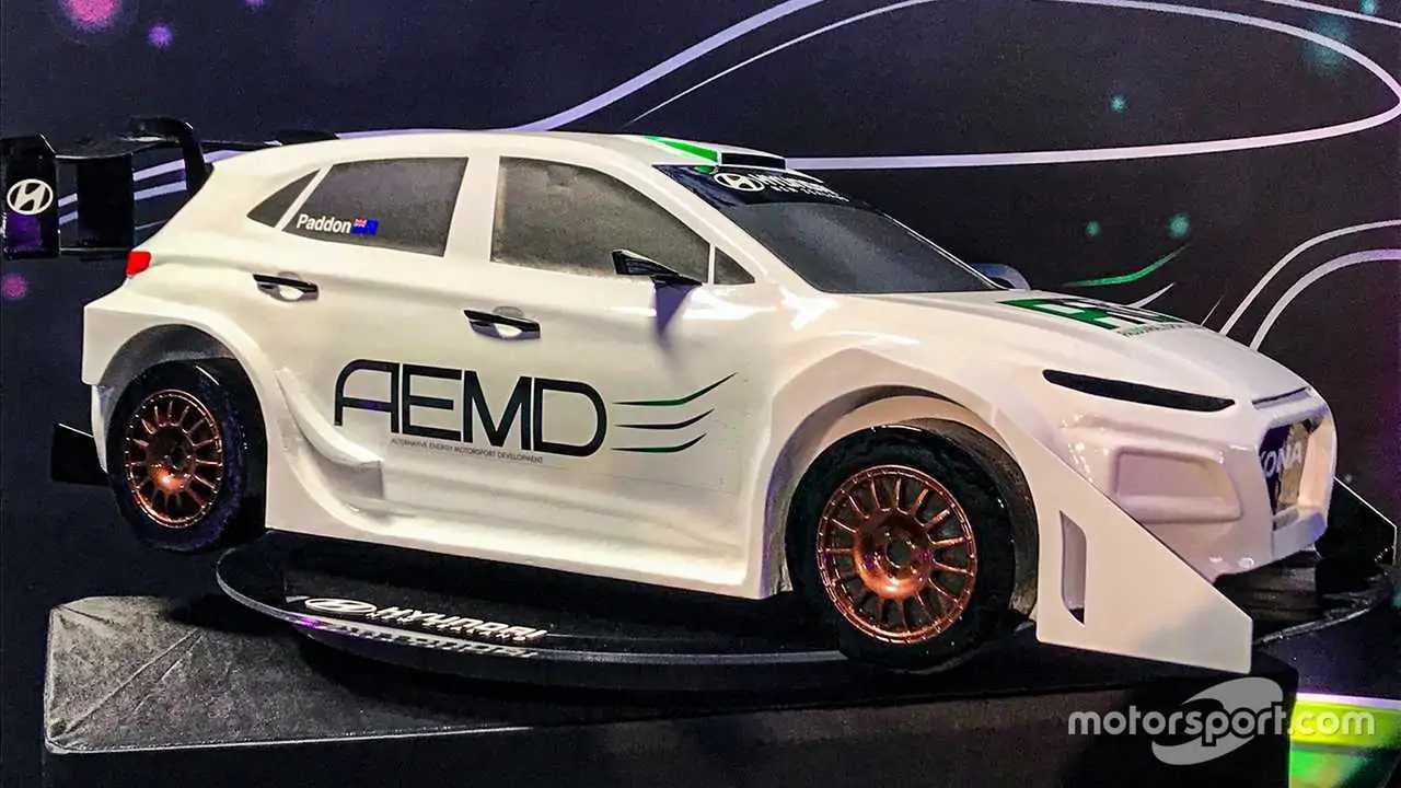 Hyundai Kona electric rally car from Hayden Paddon