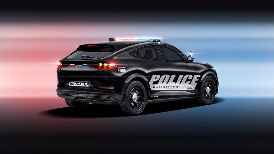 Ford Mustang Mach-E Police Interceptor Rendering von Nikita Aksyonov