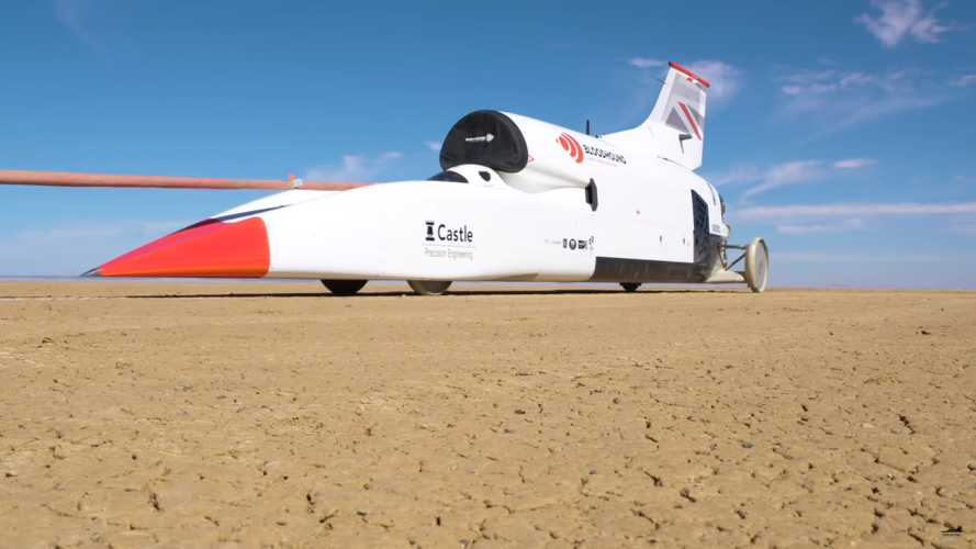 Bloodhound LSR goes 628 mph in 50 seconds, completes high-speed tests