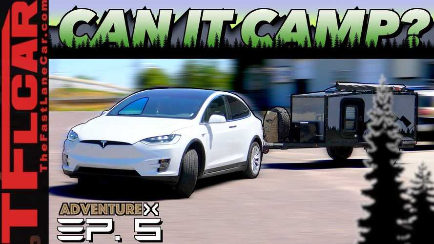 The Towing Saga With the Tesla Model X Continues, Now For Camping