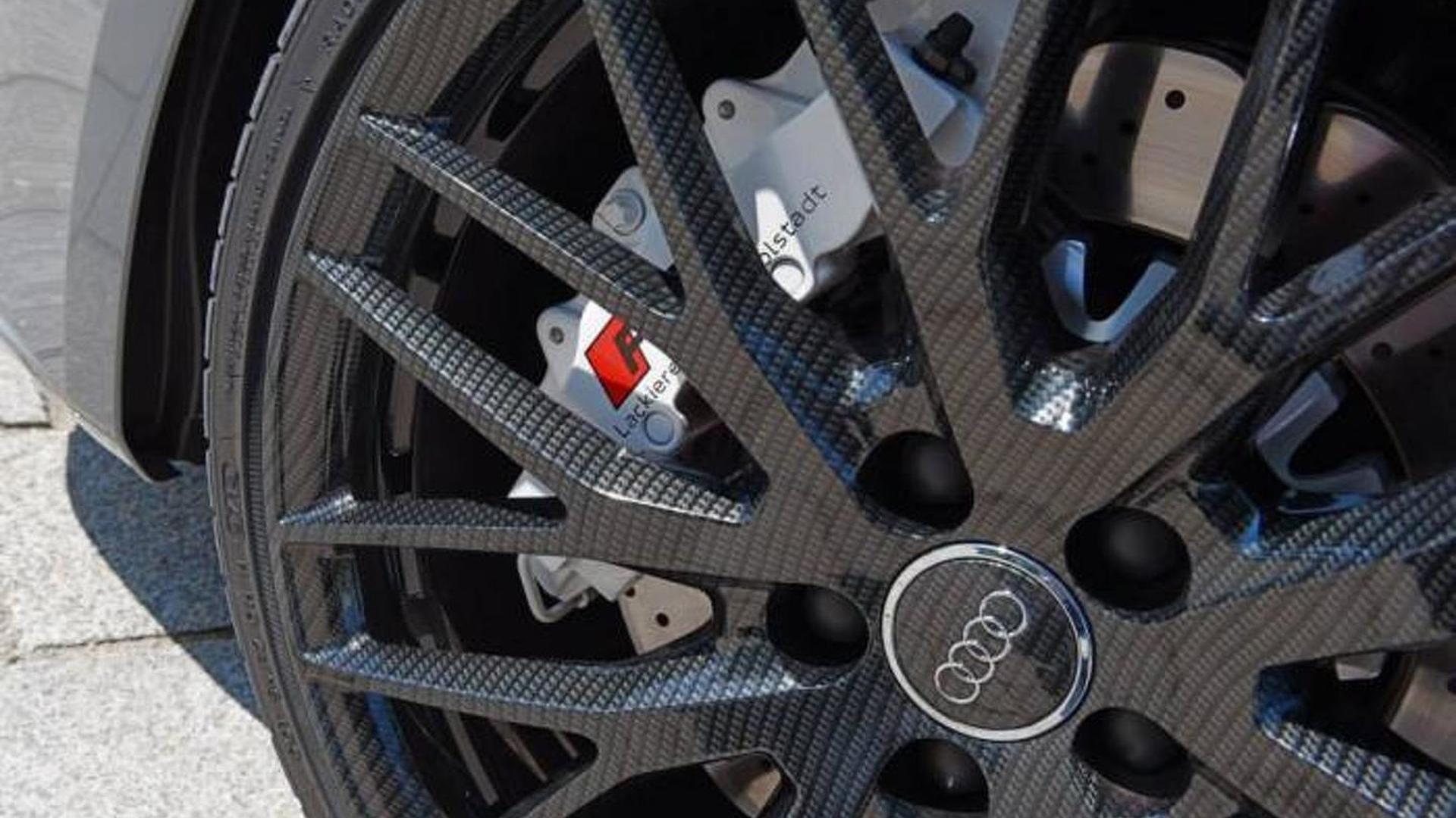 Carbon Fiber Wheels >> Audi Displays One Off Rs3 Sportback With Carbon Fiber Wheels