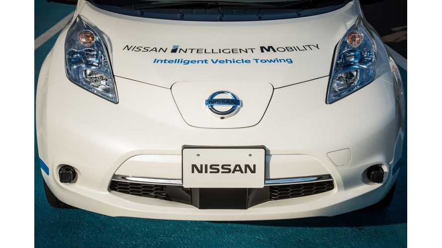 Nissan Teases Advancement in Autonomous EV Driving Tech Ahead Of Ghosn's Keynote In Las Vegas