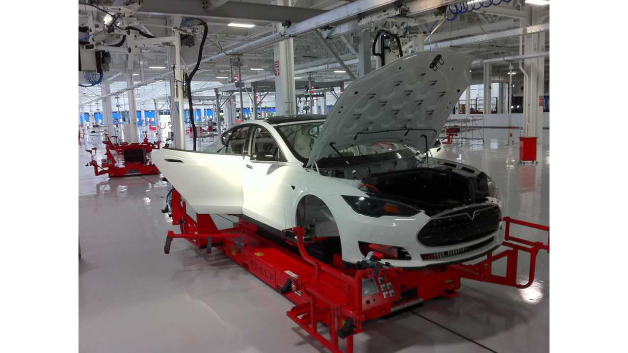 Pre-Production Tesla Model S Being Assembled In Early 2012