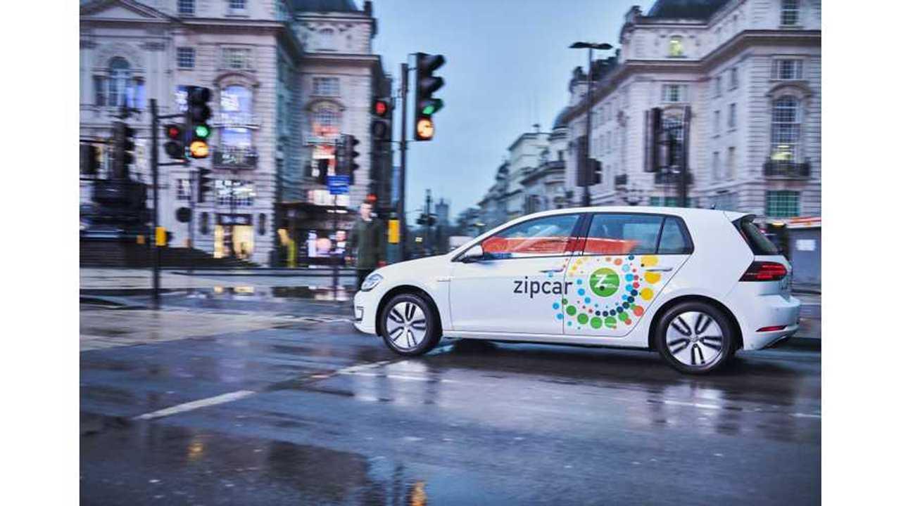 Zipcar Orders 325 Volkswagen e-Golfs For Fleet In London