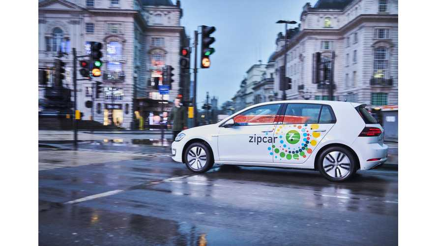 Zipcar Orders 325 Volkswagen e-Golfs For Fleet In London