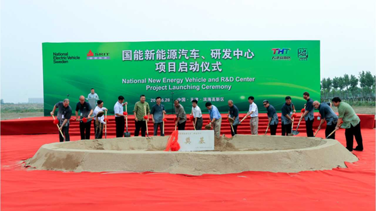 National Electric Vehicle Sweden Breaks Ground For Production In China