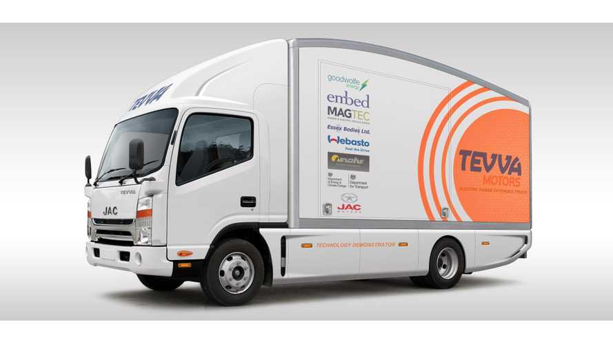 Tevva Motors Introduces Range-Extended Electric Trucks In UK