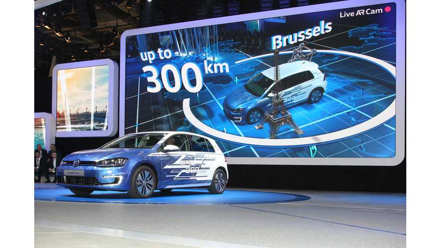 VW e-Golf With Upgraded Batteries, More Range Debuts In Paris