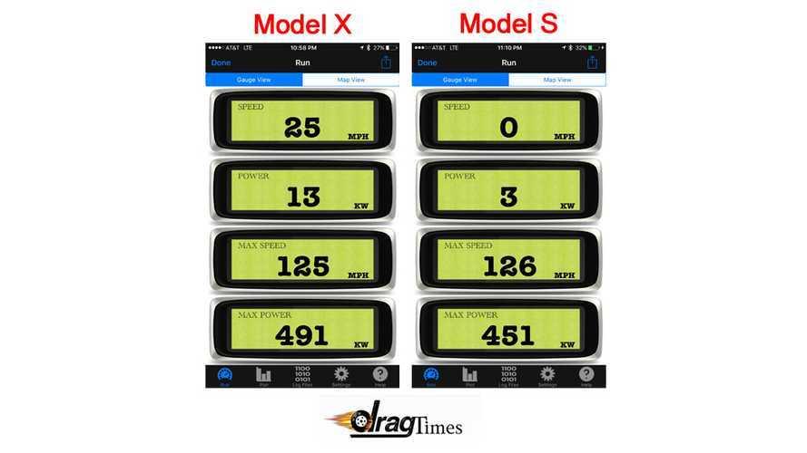DragTimes Discovers Tesla Model X P90D Pumps Out 55 More Horsepower Than Model S P90D