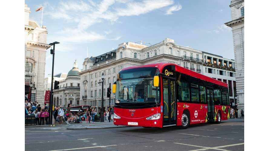 Irizar i2e Electric Bus In London - Videos