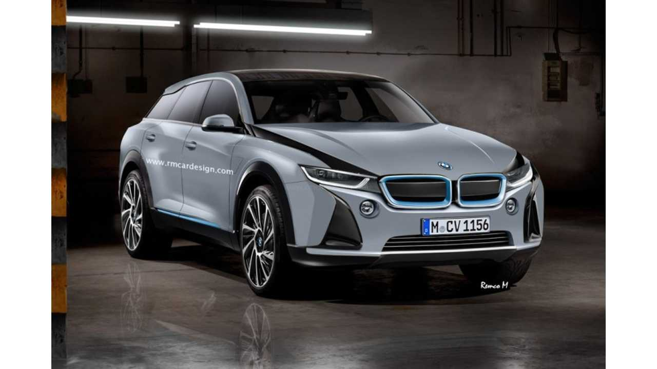 An artist's rendering of the rumored BMW i5