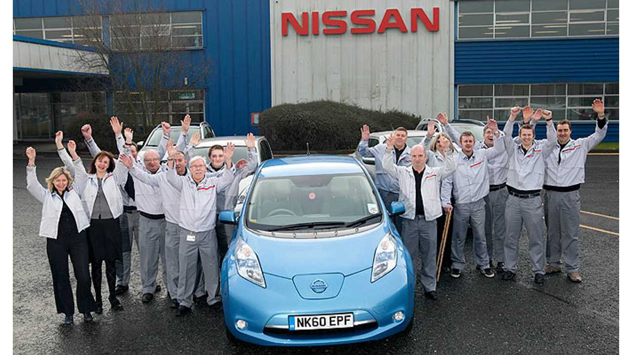 Nissan LEAF at Sunderland, UK Factory